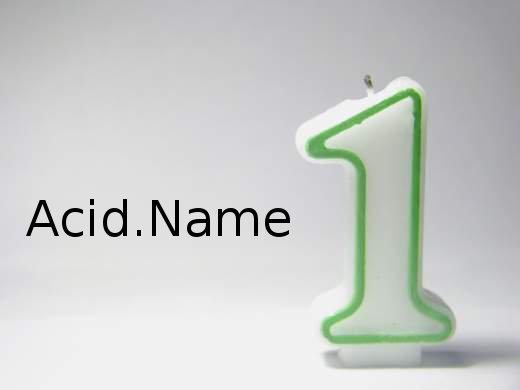 Блогу программиста  Acid.Name 1 год !